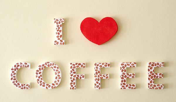 Kávé felirat